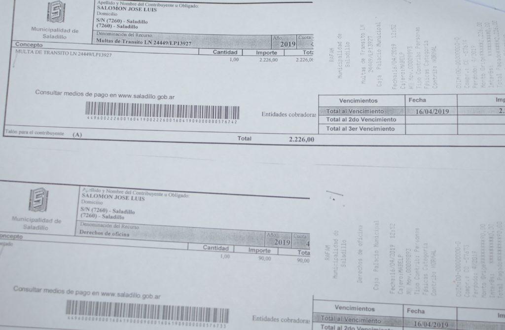 Salomón se hizo cargo de una multa de cuando viajó con Macri, Vidal y Olarticoechea