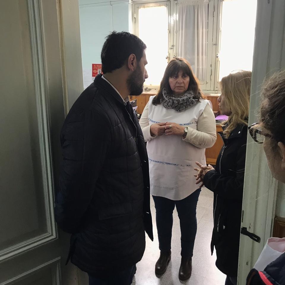 Lordén visitó Tapalqué y recorrió instituciones junto a Manuel Fittipaldi