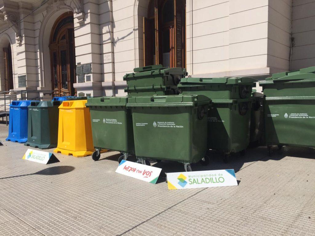 Saladillo recibió contenedores, separadores y luces LEDs en su Plan de Sustentabilidad