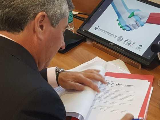 El Sindicato de Salud Publica firmo un convenio Confederación Italiana de Sindicatos de Trabajadores
