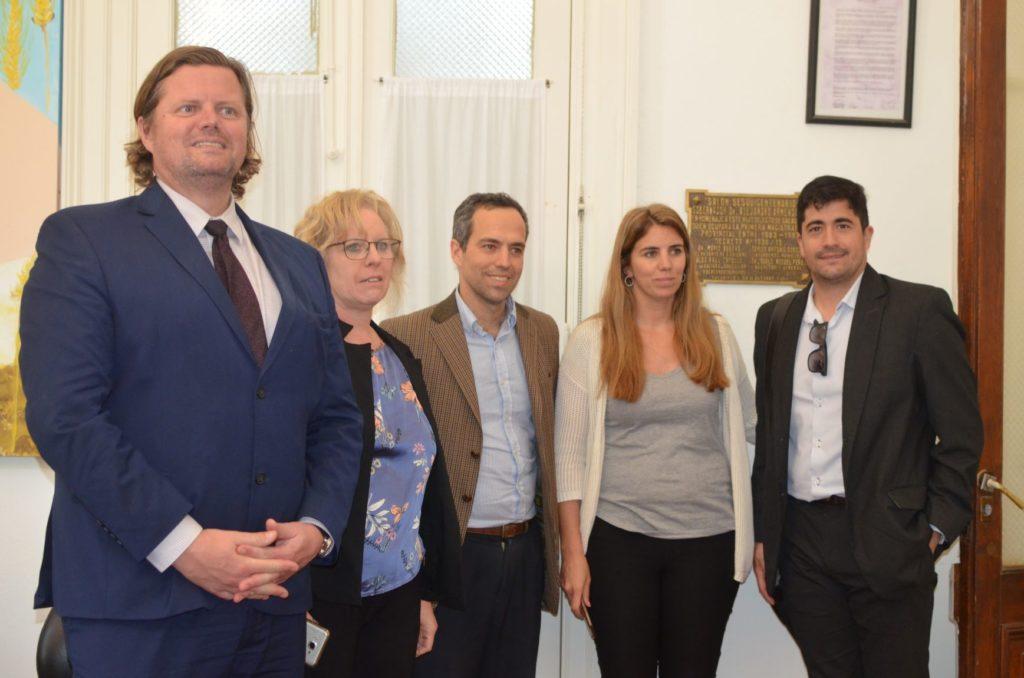 Miembros del Colegio de Abogados visitaron a sus matriculados saladillenses y se reunieron con el Intendente y Jueza de Paz