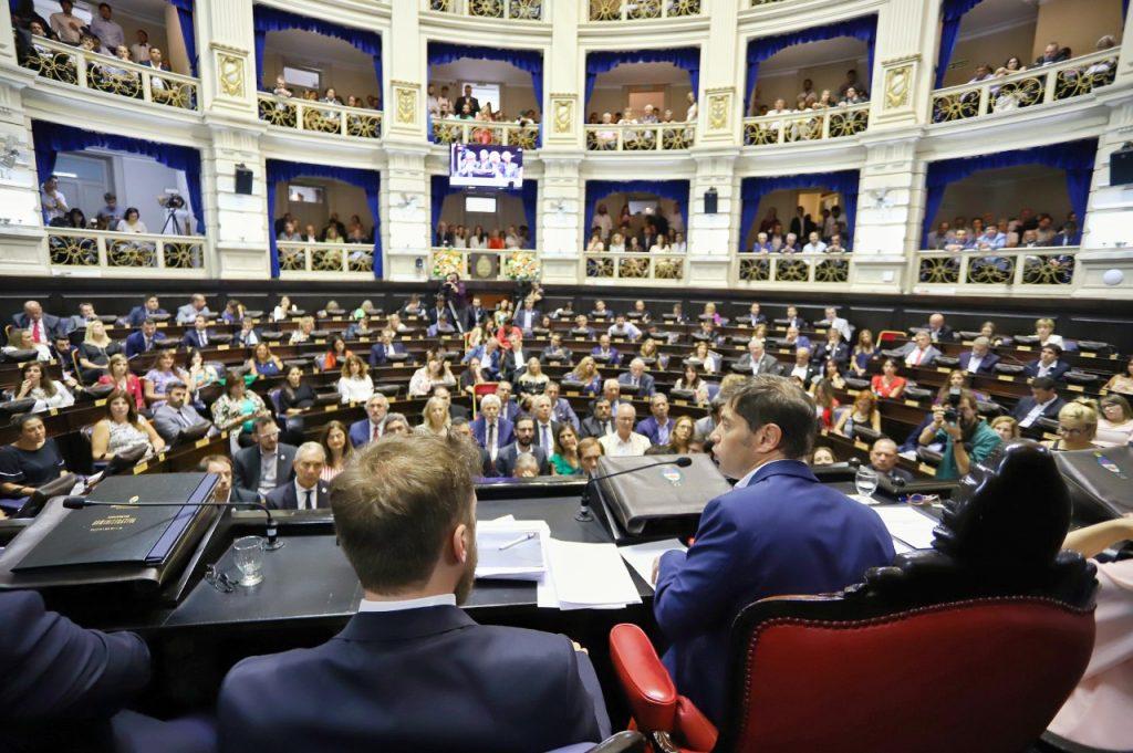 Kicillof en el inicio de las sesiones legislativas: «Vamos a reparar el estado de abandono de la Provincia»