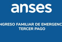 Anses - Tercer pago del ingreso familiar de emergencia