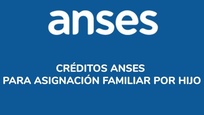 Créditos ANSES para Asignación Familiar por Hijo