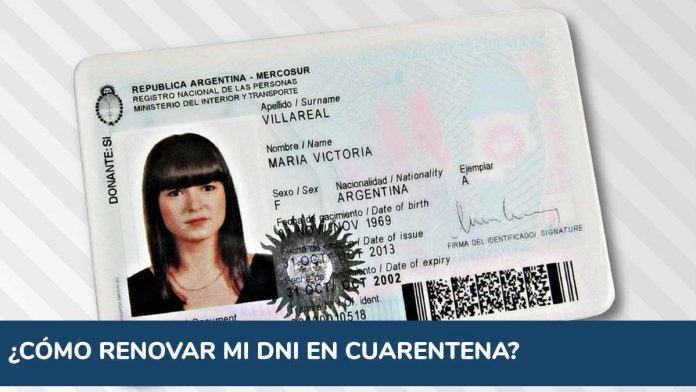Coronavirus Argentina: cómo renovar mi DNI en cuarentena
