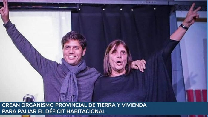 Axel Kicillof con Teresa García