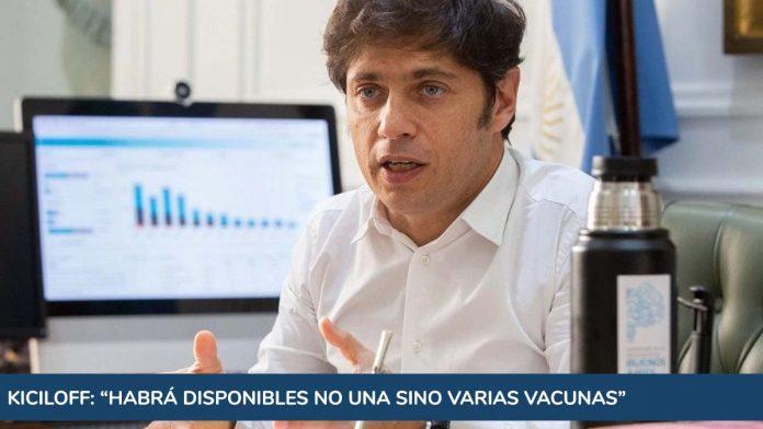 """Kiciloff dijo que habrá disponibles """"no una sino varias vacunas"""" contra el coronavirus"""