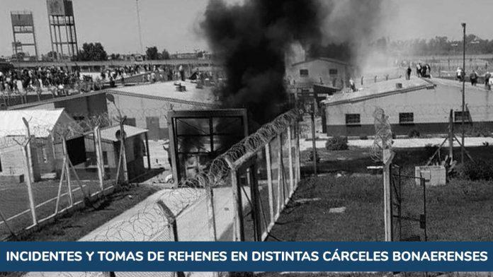 Incidentes y tomas de rehenes en distintas cárceles bonaerenses