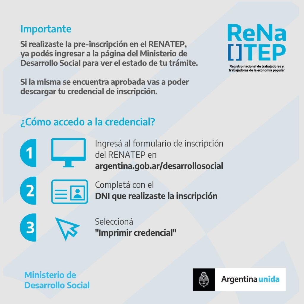 ¿Cómo descargar la Credencial del Renatep?